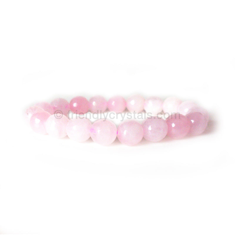 Rose Quartz Faceted Power Bracelet (10mm)