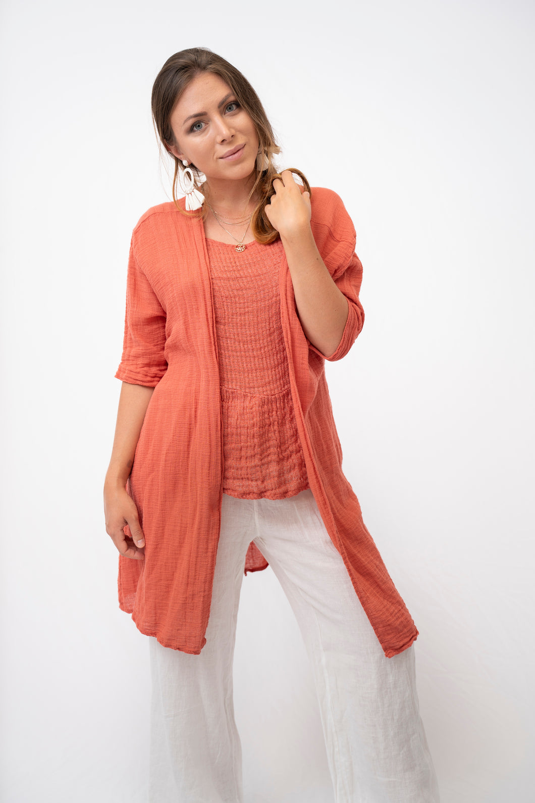 Aria Lightweight Coverup With Tie