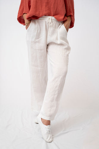 Relaxed Linen Drawstring Pant With Pockets