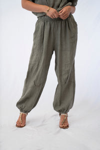 Relaxed Linen Jasmine Pants With Pockets