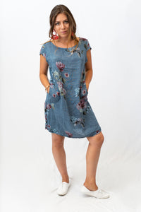 Isabella Romantic Linen Dress With Pockets