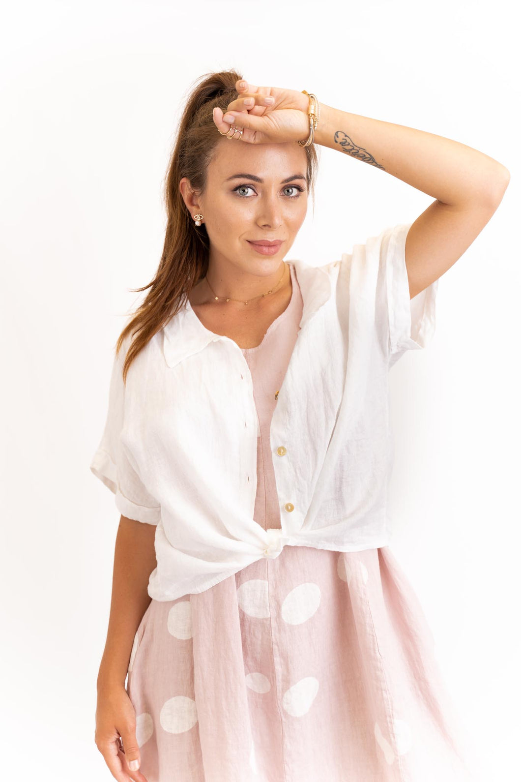 Aria Button Up Top