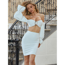 Load image into Gallery viewer, In Neutral -  Crop Top & Midi Skirt Set