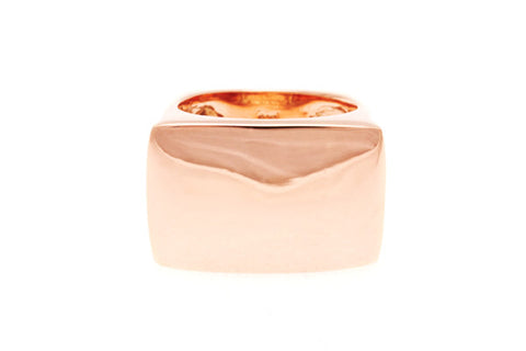 9ct Ring In Rose Gold Which Is Bold & Rectangular