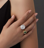 18ct Ring In Yellow And White Gold With Diamonds