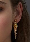 18ct Yellow Gold Sapphire & Opal Earrings