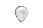 Silver Pear Shaped Mabe Pearl Ring