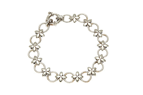 9ct Bracelet In White Gold With Hugs & Kisses