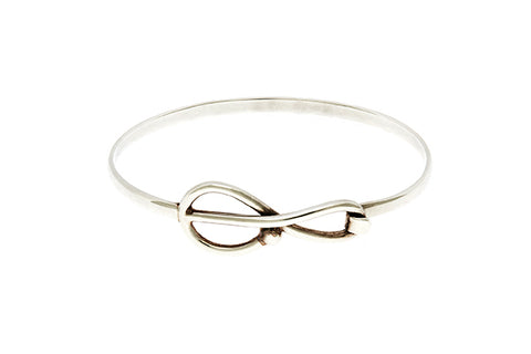 Silver Bangle With Treble Clef Design