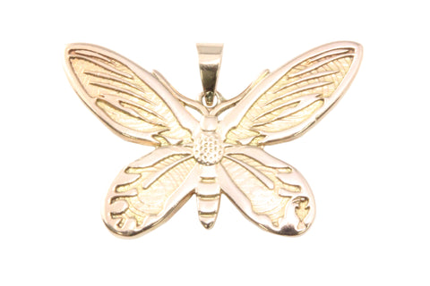 9ct Pendant In Rose Gold With A Birdwing Butterfly
