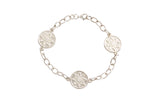 Silver Bracelet With Goroka Basket Pattern