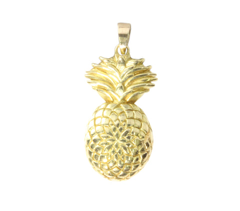9ct Pendant In Yellow Gold  With A Pineapple