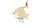 18ct Pendant In Yellow Gold Butterfly Fish Charm