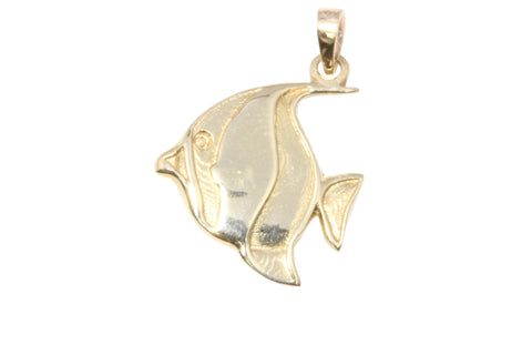 9ct Pendant In Yellow Gold Butterfly Fish Charm