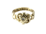 18ct Antique Ring In Yellow Gold With Diamond