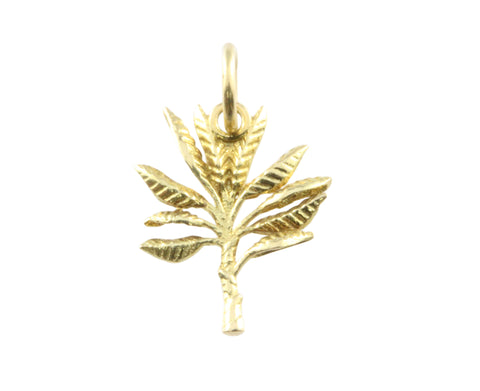18ct Pendant In Yellow Gold With Banana Tree
