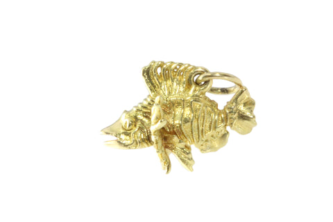 18ct Pendant In Yellow Gold With Lionfish