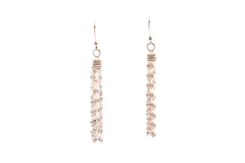 Silver Earrings With Tassels