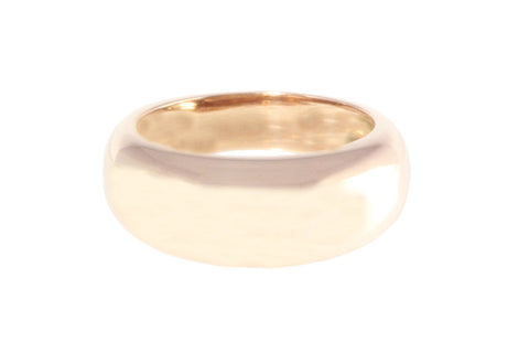 9ct Ring In Rose Gold 8mm Plain Band