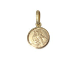 9ct Pendant In Yellow Gold With St Christopher