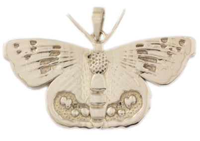 9ct Pendant In Yellow Gold With Red Lacewing Butterfly