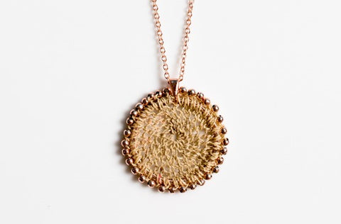 Bilum & Bilas Rose Gold Sunset Necklace