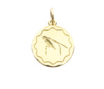 18ct Pendant In Yellow Gold With A King Of Saxony Bird Of Paradise
