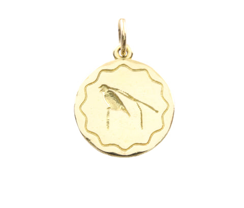18ct Pendant with Yellow Gold King of Saxony Bird Of Paradise