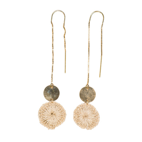 Bilum & Bilas Gold Pagwi Earrings