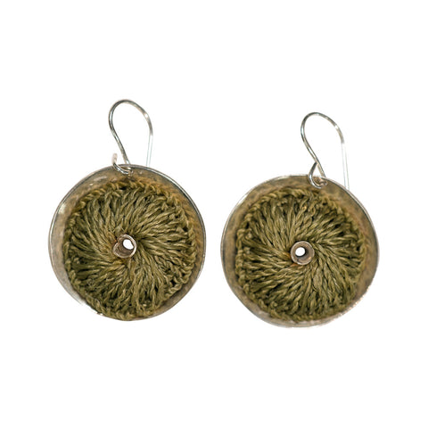 Bilum & Bilas Recycled Silver Dome Earrings