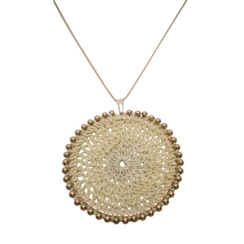 Bilum & Bilas Large Rose Gold Sunset Necklace