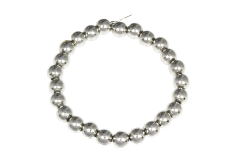 Silver Bracelet with Balls On Elastic