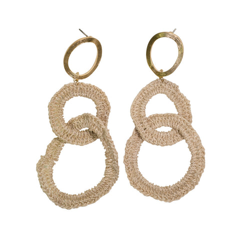 Bilum & Bilas Gold Chain Earrings