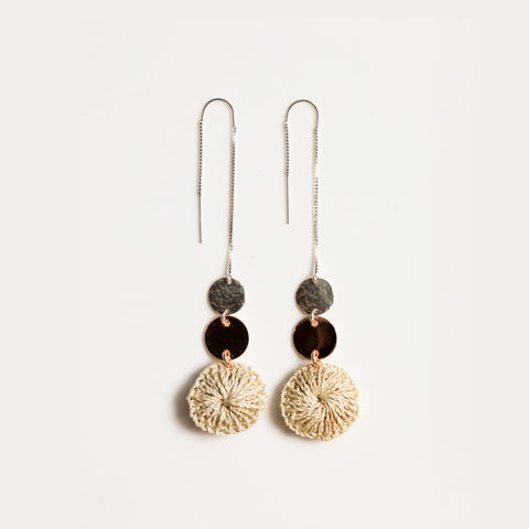 Bilum & Bilas Silver Terrain Earrings