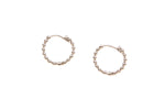 9ct Earrings In White Gold Petite Bead Huggie Hoops