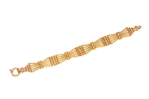 9ct Bracelet in Yellow Gold Gate Link Style