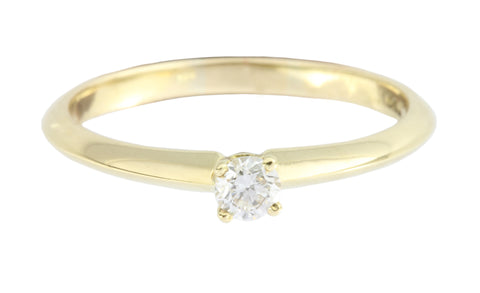 18ct Ring In Yellow Gold With Diamond