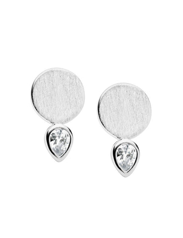 PASTICHE Limerance Earrings In Silver With Cubic Zirconia