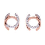 Sybella Earrings With Rose Gold Plate & Cubic Zironias