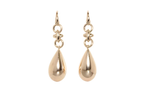 9ct Earrings In Rose gold With Hugs & Kisses Links & Tear Drop
