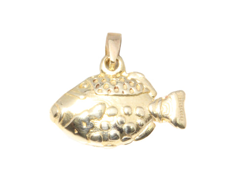 18ct Pendant In Yellow Gold With Triggerfish