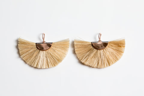 Bilum & Bilas Rose Gold Sing Sing Earrings