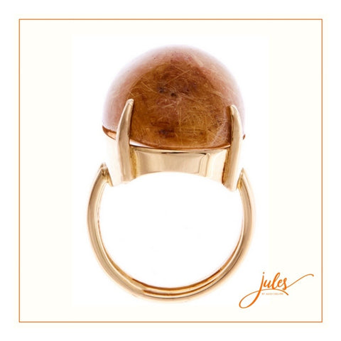 18ct ring in yellow gold with Rhutilated Quartz 21.54 carats
