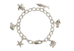 Silver Bracelet With Sea Creatures