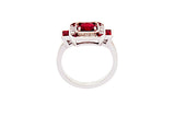 Platinum Ring With Rubies & Diamonds