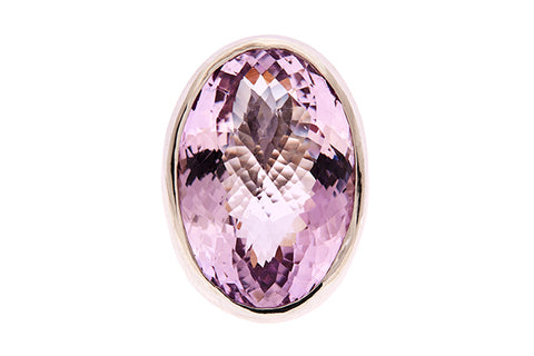 Silver Ring With Large Pastel Amethyst 28mm x 20mm