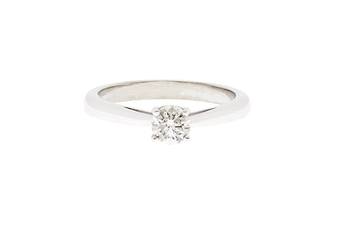 18ct Engagement Ring In White Gold With Diamond