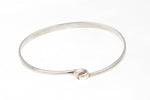 Silver Bangle With Hook Clasp
