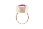Silver Ring With Large Pastel Amethyst
