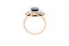 18ct ring in yellow gold with natural Australian Parti Sapphire 2.66cts & diamonds